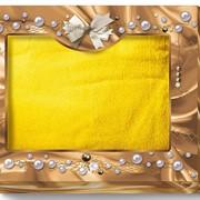 Коробка-сундучок малый (для одного полотенца 70х140) Шоколад и жемчуг 285х230х50 фото