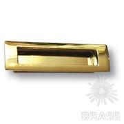 Ручка врезная современная классика, глянцевое золото 96 мм EMBUT96-12 фото