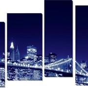 Модульная картина Мост Нью-Йорк, Неизвестен фото