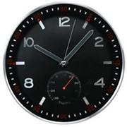 Часы Aluminum wall clock w/thermometer , арт. A22TH12A2,B фото