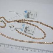 Цепь и браслет серебряные позолоченные Бисмарк (Двойной Якорь) Арт 067А 3/45. фото