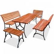 Комплекты садовой мебели, столы садовые, скамейки садовые фото