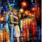 Картина стразами Влюбленные у ночного залива Л.Афремов - 40х50 см фото