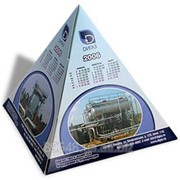 Календарь-пирамидка, 12х12 см, 4+0, картон 250 г/м2, вырубка фото