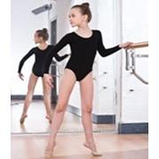 Купальник гимнастический длинный рукав х/б размер 38-40 фото