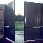 Ворота распашные автоматизированные фото