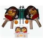 Набор для настольного тенниса, 4 ракетки, 8 шариков, в чехле. BB02S075 фото