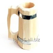 Бокал для пива деревянный фото
