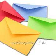 Конверт картонный с печатью логотипа фото