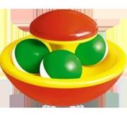 Погремушка Гриб-неваляшка в форме грибка с шарами 0 мес+ фото