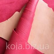 Натуральная кожа для обуви и кожгалантереи красная арт. СК 1112 фото
