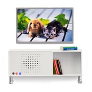 Мебель для домика музыкальный центр и телевизор белого цвета фото