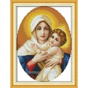 """Набор для вышивания """"Божья мать с младенцем"""" R 266/5 фото"""