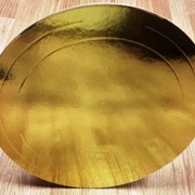 Подложки золото/жемчуг 3,5мм усиленные для тортов и не только фото