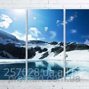 Модульна картина на полотні Гірське озеро код КМ100150-085 фото