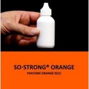Жидкий концентрированный краситель оранжевого цвета для полиуретанов фото