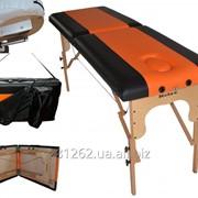 Стол массажный 2х сегментный Relax, массажная кушетка. фото