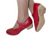 Туфли для народных танцев (красный) фото
