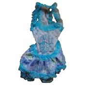 Платье для собаки голубое фото