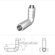 Отвод стальной в оцинкованной трубе-оболочке d=76 мм, s=3 мм, R=1,5Dy фото