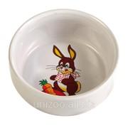 Миска керамическая для кроликов Trixie Ceramic Bowl 0,3л 11см фото