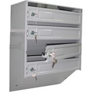 Ящик почтовый металлический (подъездный) - 4 секции фото