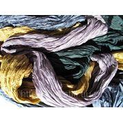 Шарфы жатые из натурального шелка фото