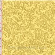 """Желтая ткань с золотыми """"огурцами"""""""