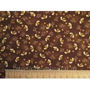 Ткань цвета шоколада с пчелами фото