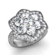 Кольца с бриллиантами D42601-1 фото