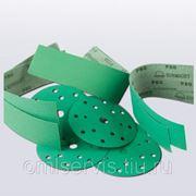 Шлифовальный круг FILM 150мм на липучке, Р 100, 7 отв, зелёный фото