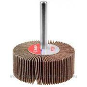 Круг шлифовальный ЗУБР веерный лепестковый, на шпильке, тип КЛО, зерно - электрокорунд нормальный, P100, 15х30мм фото
