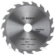 Круг пильный твердосплавный Bosch Optiline eco 160 x 18 x 20/16 фото