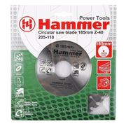 Круг пильный твердосплавный Hammer Csb wd 185мм*40*30/20мм фото