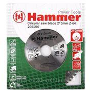 Круг пильный твердосплавный Hammer Csb pl 210мм*64*30/20мм фото