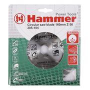 Круг пильный твердосплавный Hammer Csb wd 160мм*36*20/16мм фото