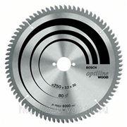 Круг пильный твердосплавный Bosch Optiline wood 254 x 80 x 30 gcm 10 фото