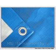 Тент Тарпаулин синий 10х12 м 180 г/м (защита от влаги, ветра) фото