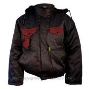 Куртка утепленная код 3134 (черная, синяя) фото