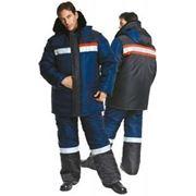 Костюм Фрост утепленный (куртка,брюки) синечёрный фото