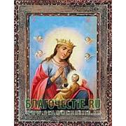 Благовещенская икона Балыкинской Богородица, копия старой иконы, печать на дереве Высота иконы 11 см фото