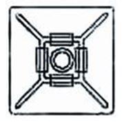 KT-402B черн., площадка-держатель для стяжек самоклеющаяся фото