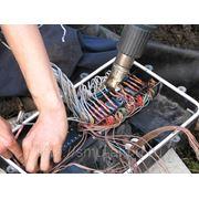 Монтаж, восстановление и герметизация кабельных линий и подземных муфт. фото