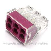 WAGO 773-326 Клемма 6x2.5мм (0,08-2,5) прозр. (цена за упак. 50шт.)