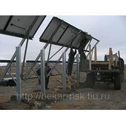 Стойка крепления и монтажа солнечных модулей, размером 3х6 с фундаментом фото