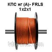 Неэкранированный кабель КПС нг (А)- FRLS 1x2x1 огнестойкий для систем пож. сигнализации. Цвет оранжевый. Nootech фото