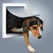 Дверца Trixie 3878 для кошек/собак, 2 функции, 22,5х29,5см, пластик, белый. фото