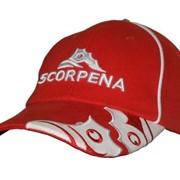 Кепка-бейсболка scorpena, красная фото