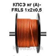 Экранированный кабель КПСЭ нг (А)- FRLS 1x2x0,5 огнестойкий для систем пож. Сигнализации. Цвет оранжевый. Nootech фото
