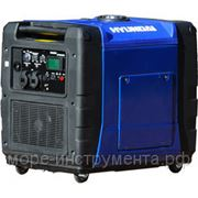Генератор Hyundai HY5600SEi, бензиновый, инверторный, 230 В, 5.0 кВт, электростартер, 75 кг. фото